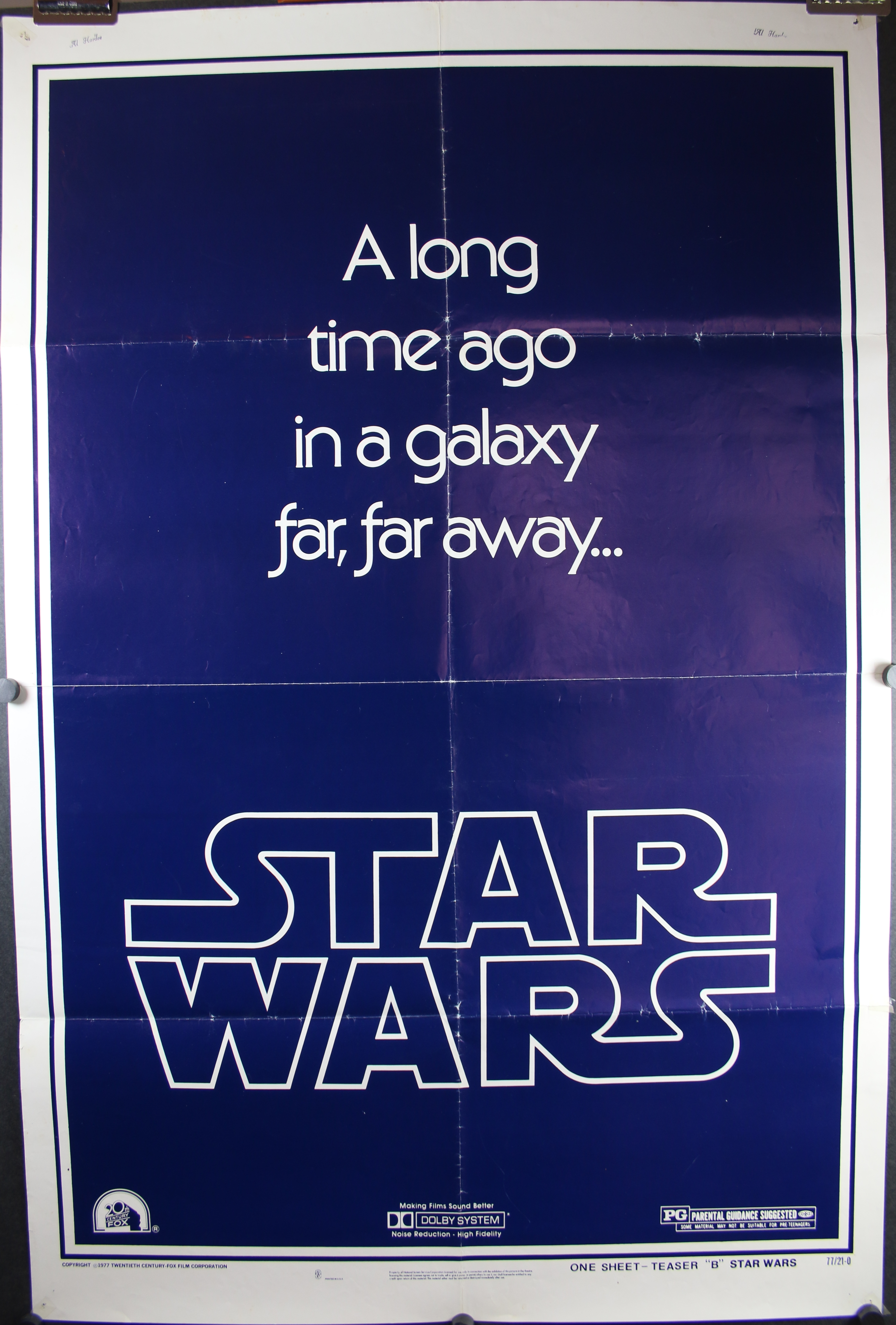 Star Wars Love Quotes Star Wars Teaser Style B Original Movie Theater Poster With Gau Logo