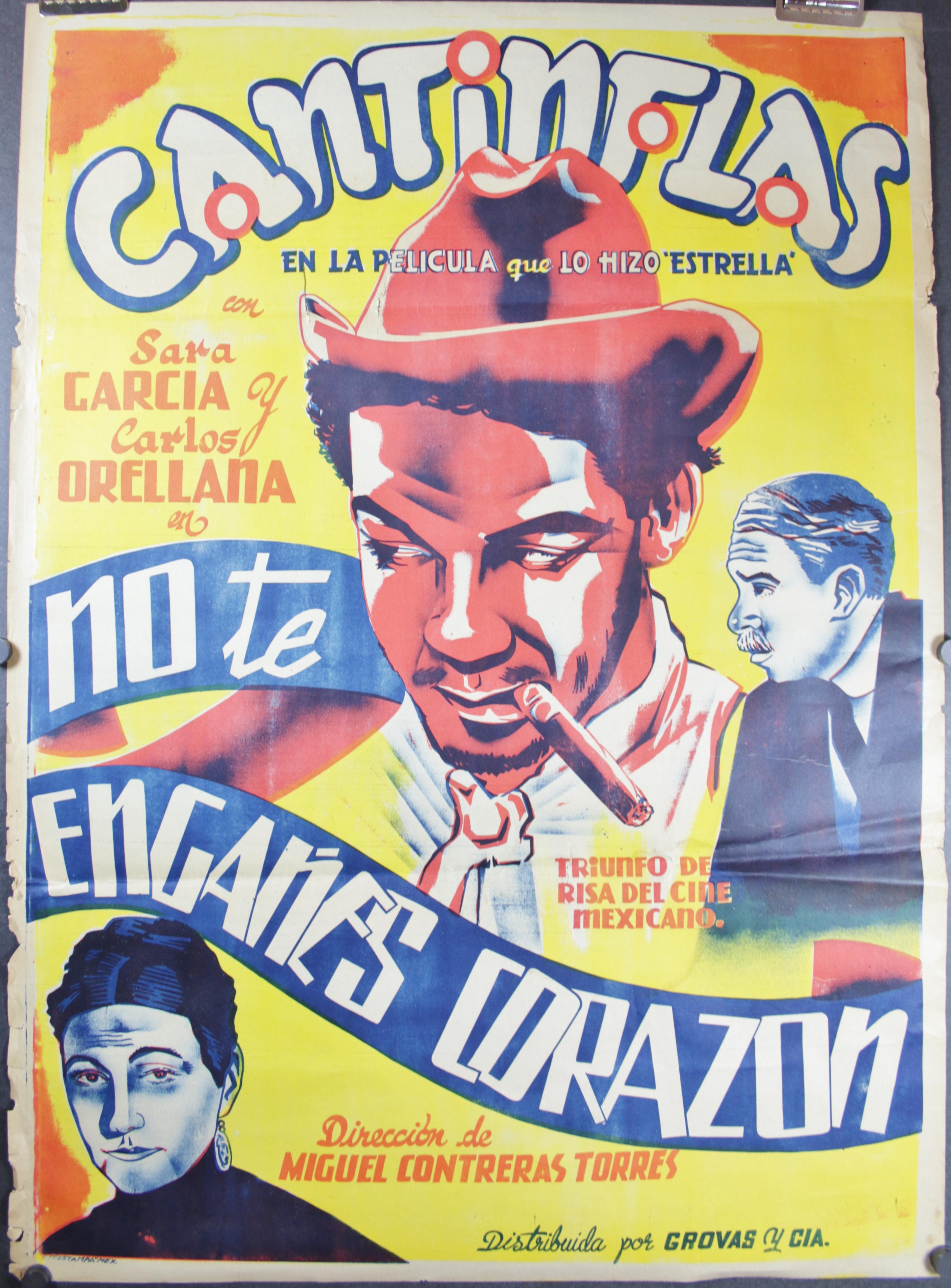no te enganes corazon original vintage cantinflas mexican
