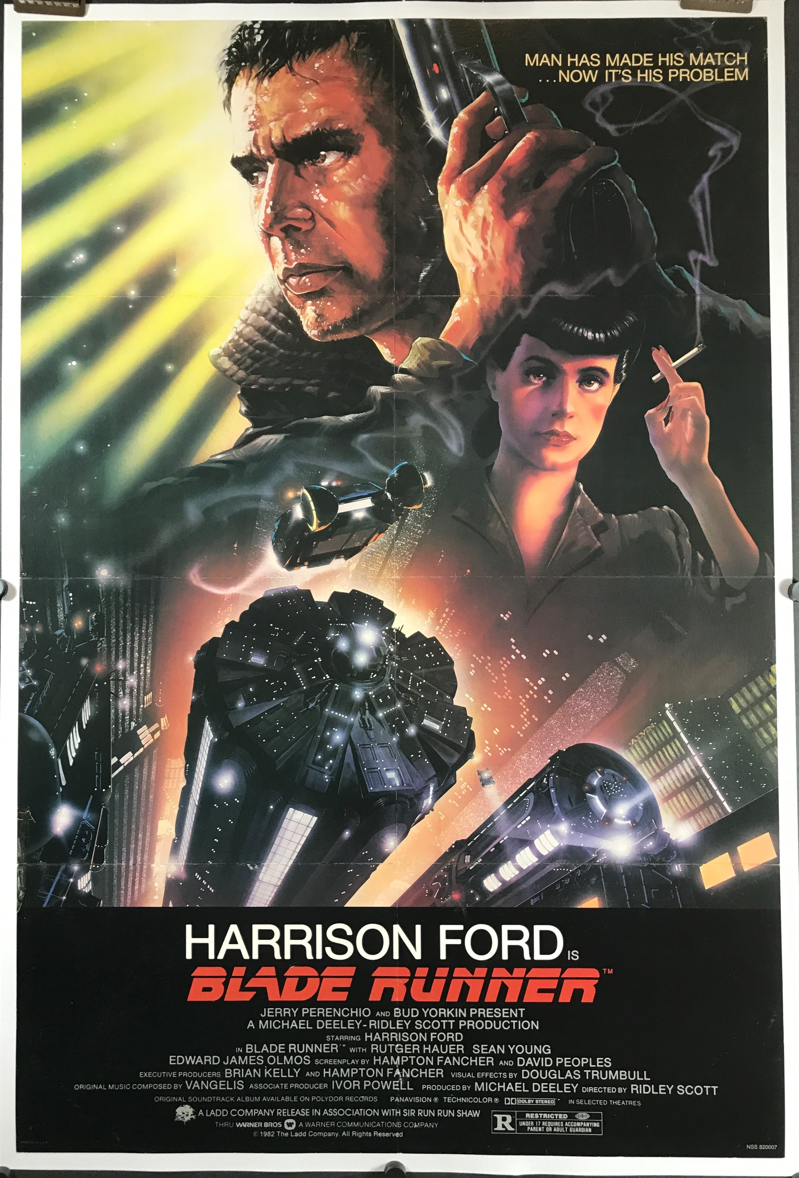 BLADE RUNNER, Original Movie Theater Poster For Sale