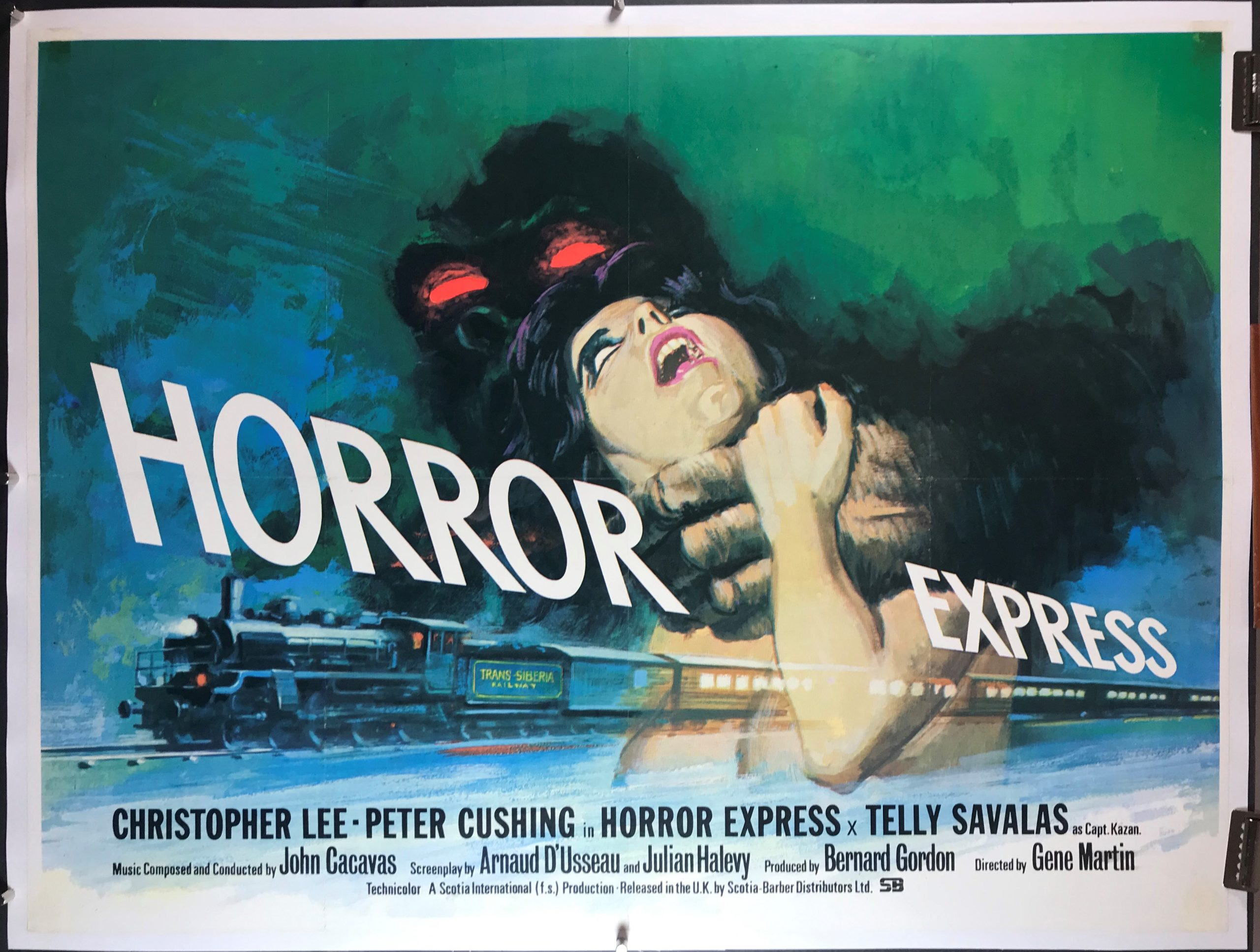 Image result for HORROR EXPRESS QUAD POSTER