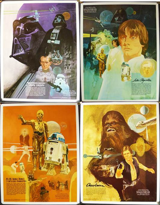 Star Wars Coca Cola Poster Set