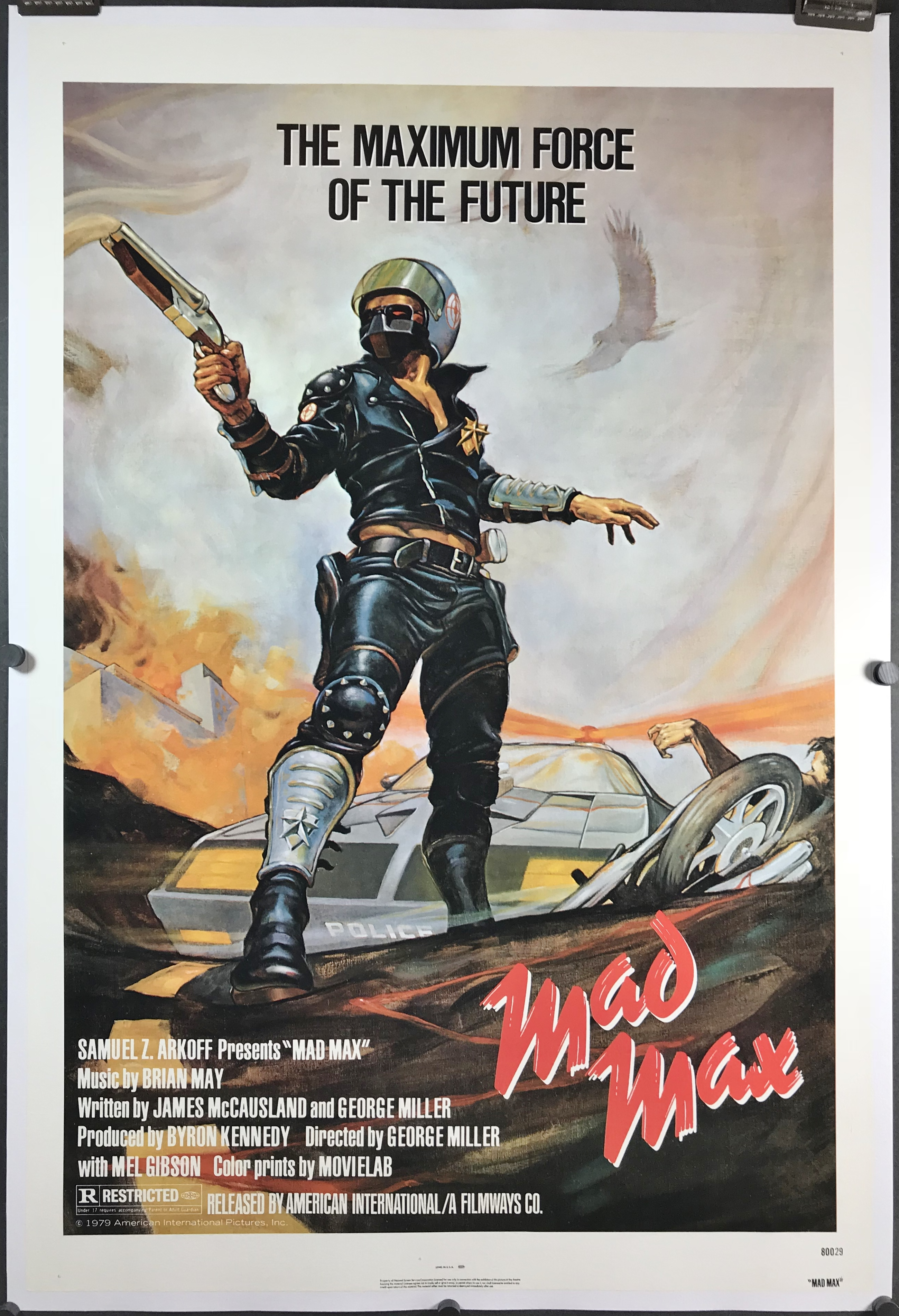 mad max original rolled movie theater poster for sale and