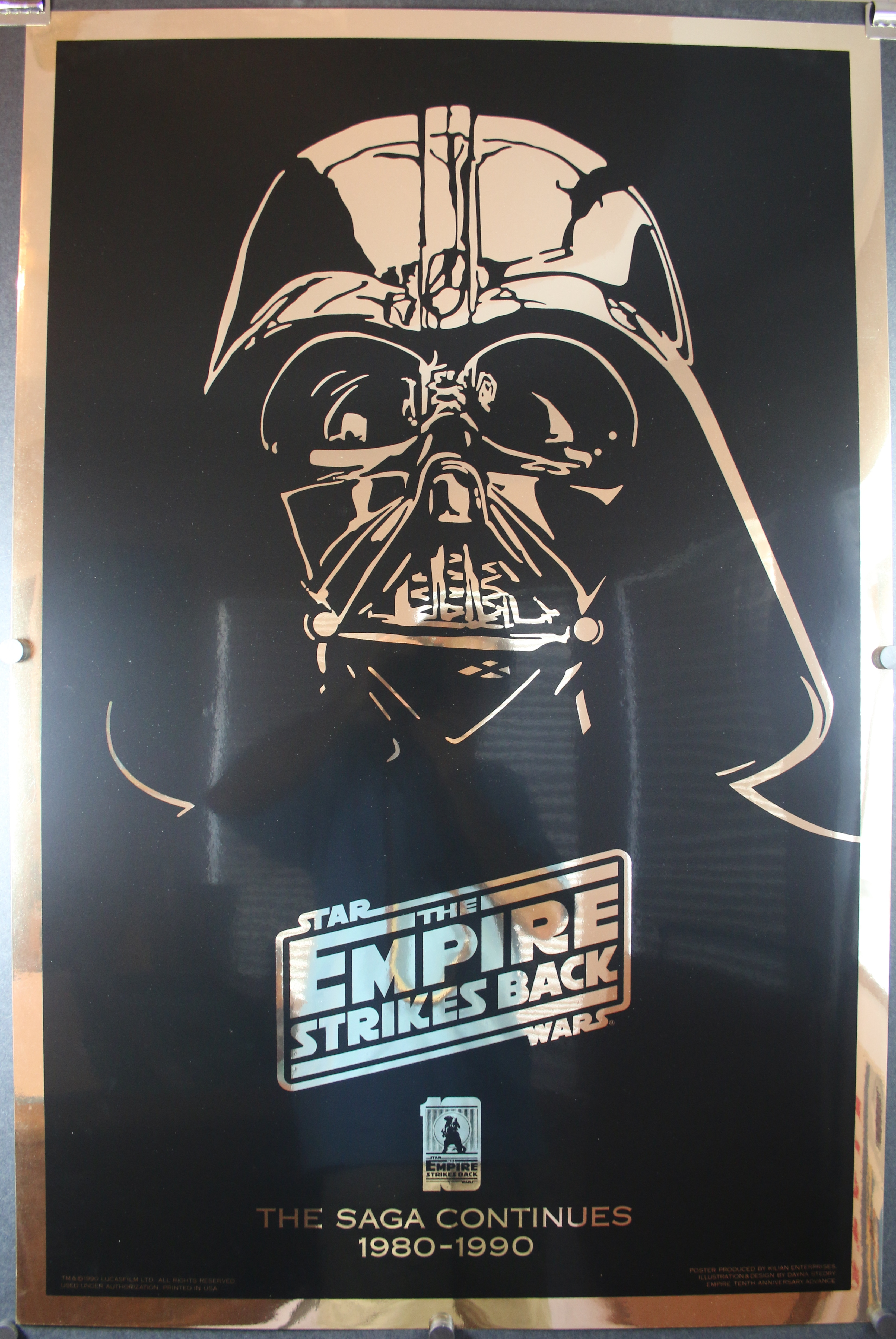 EMPIRE STRIKES BACK, Original Vader Helmet Gold Mylar ...