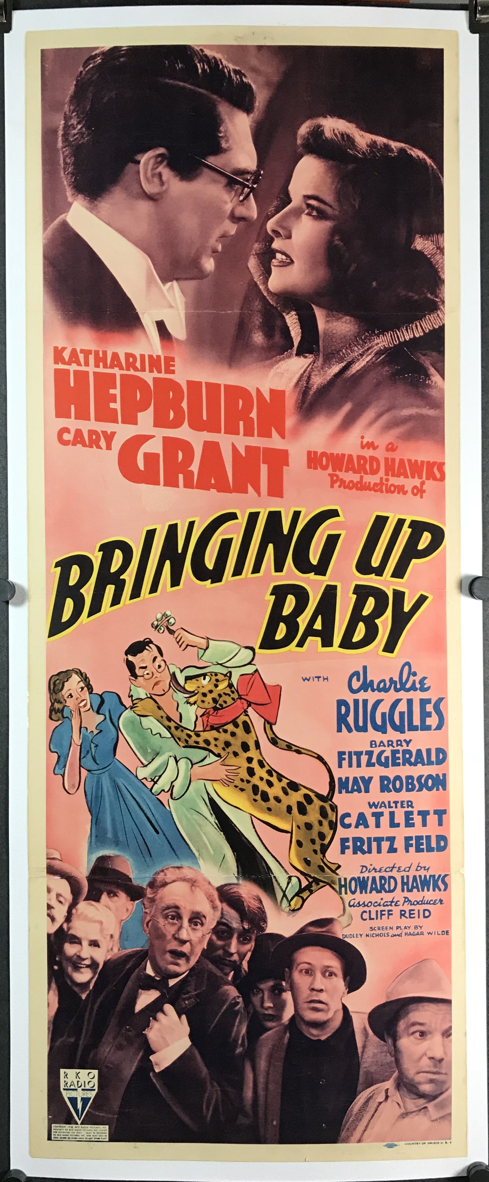 BRINGING UP BABY MOVIE POSTER Cary Grant RARE VINTAGE 1