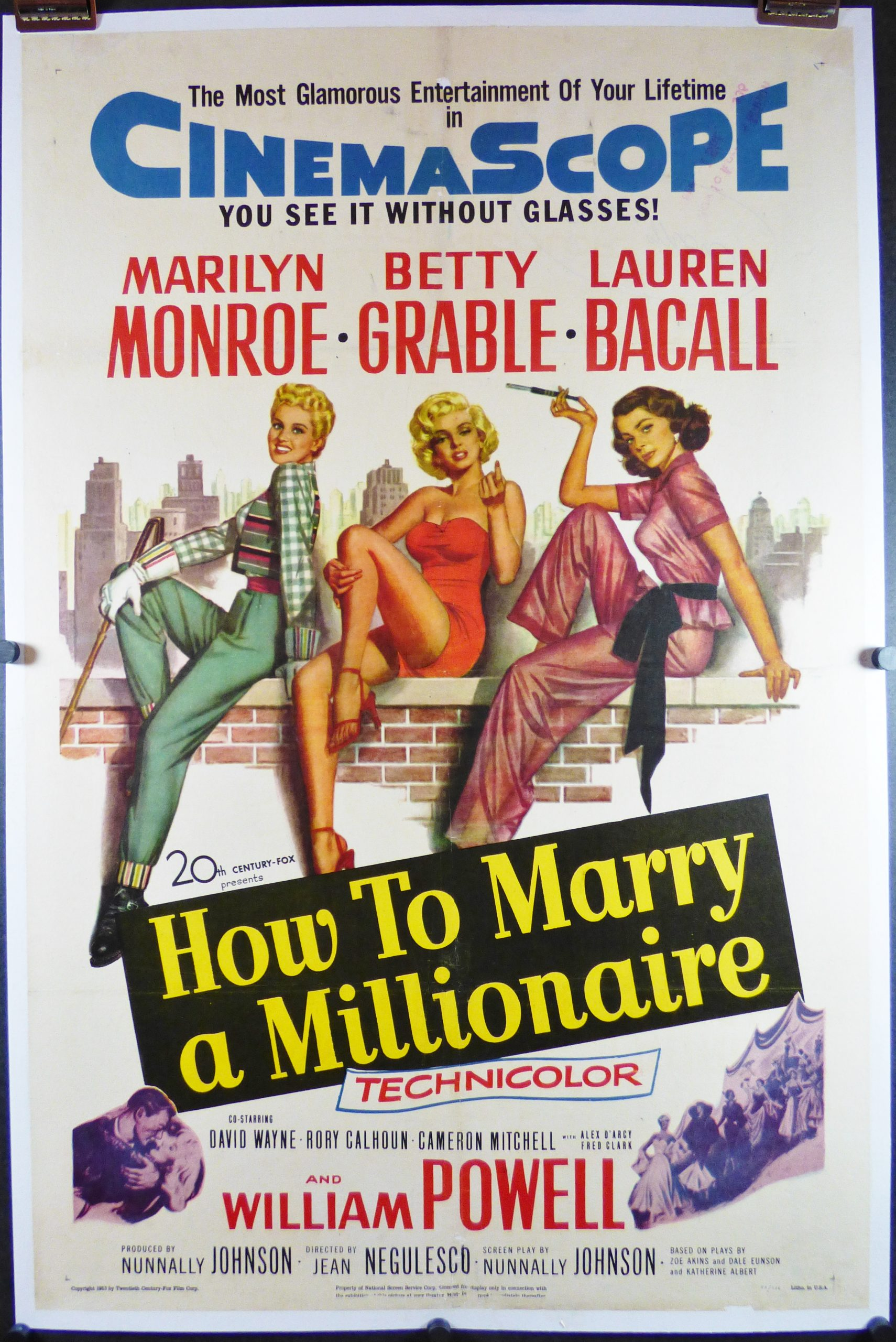 Rare!! Vintage 80s How To Marry A Millionaire Movie Shirt Sz M Marilyn Monroe Betty Grabale Lauren Bacall William Powell