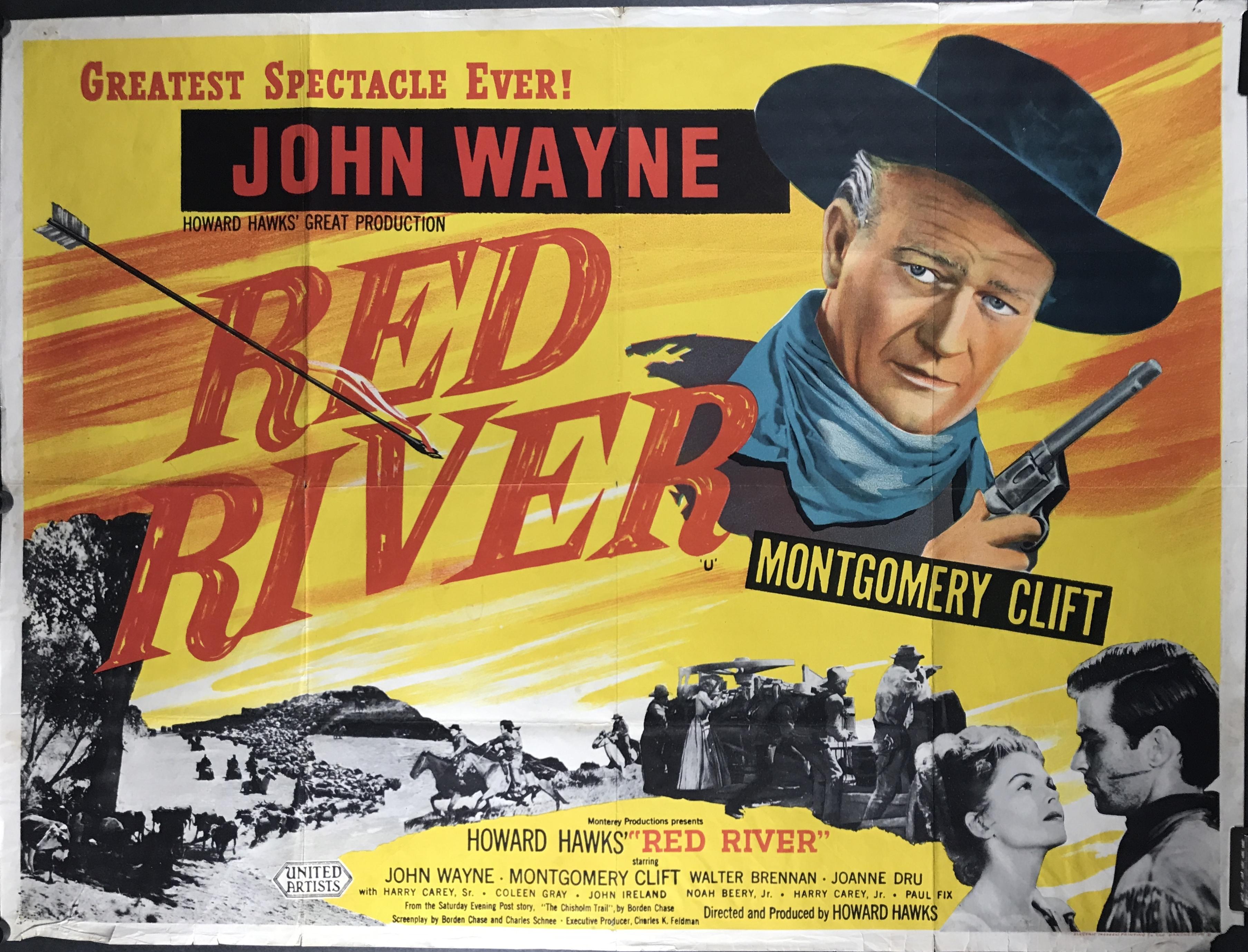 Art print POSTER vintage wayne Vintage Western Movie