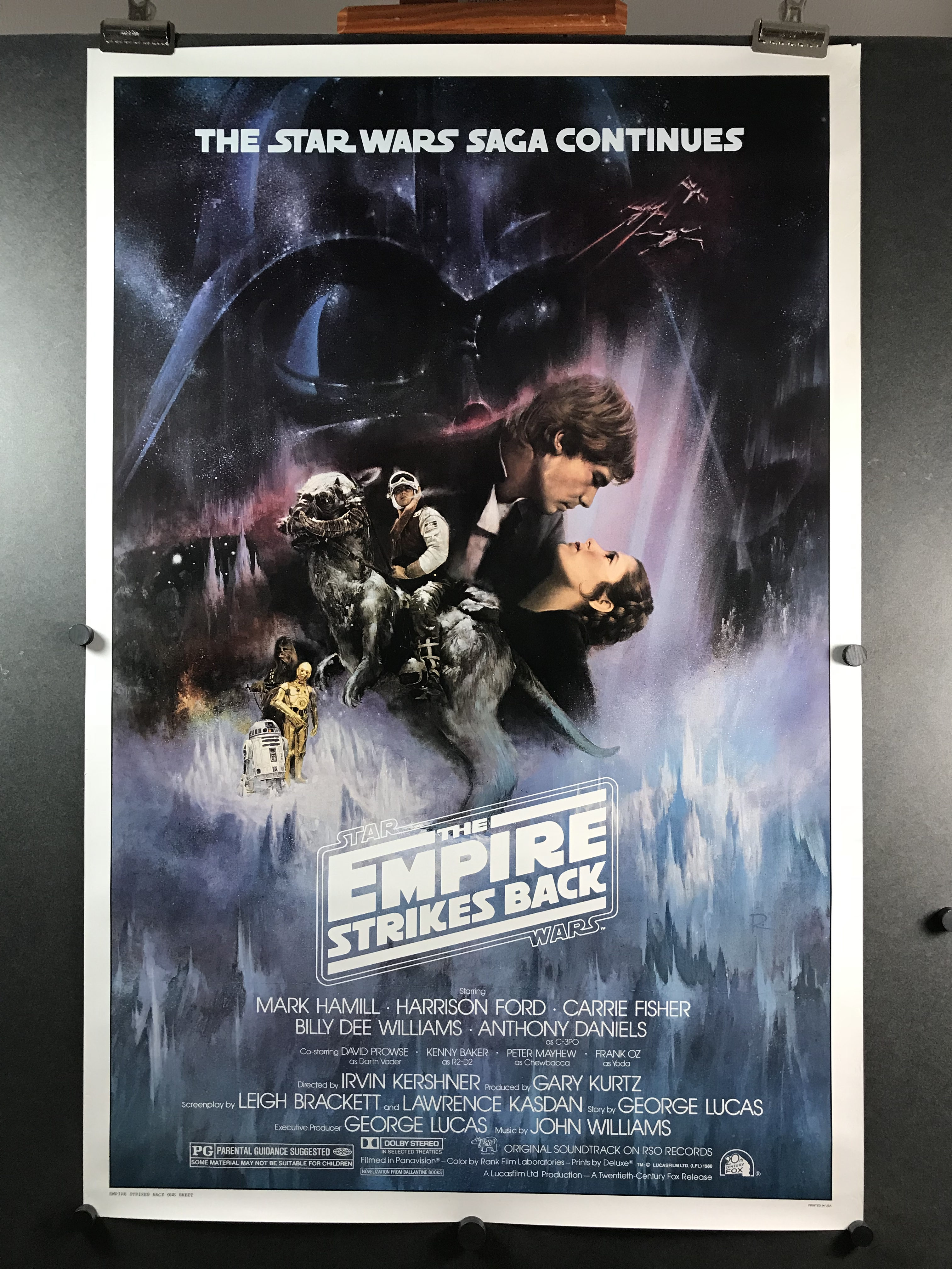Empire Strikes Back Original Gone With The Wind Style B Studio 1 Sheet Movie Poster Original Vintage Movie Posters