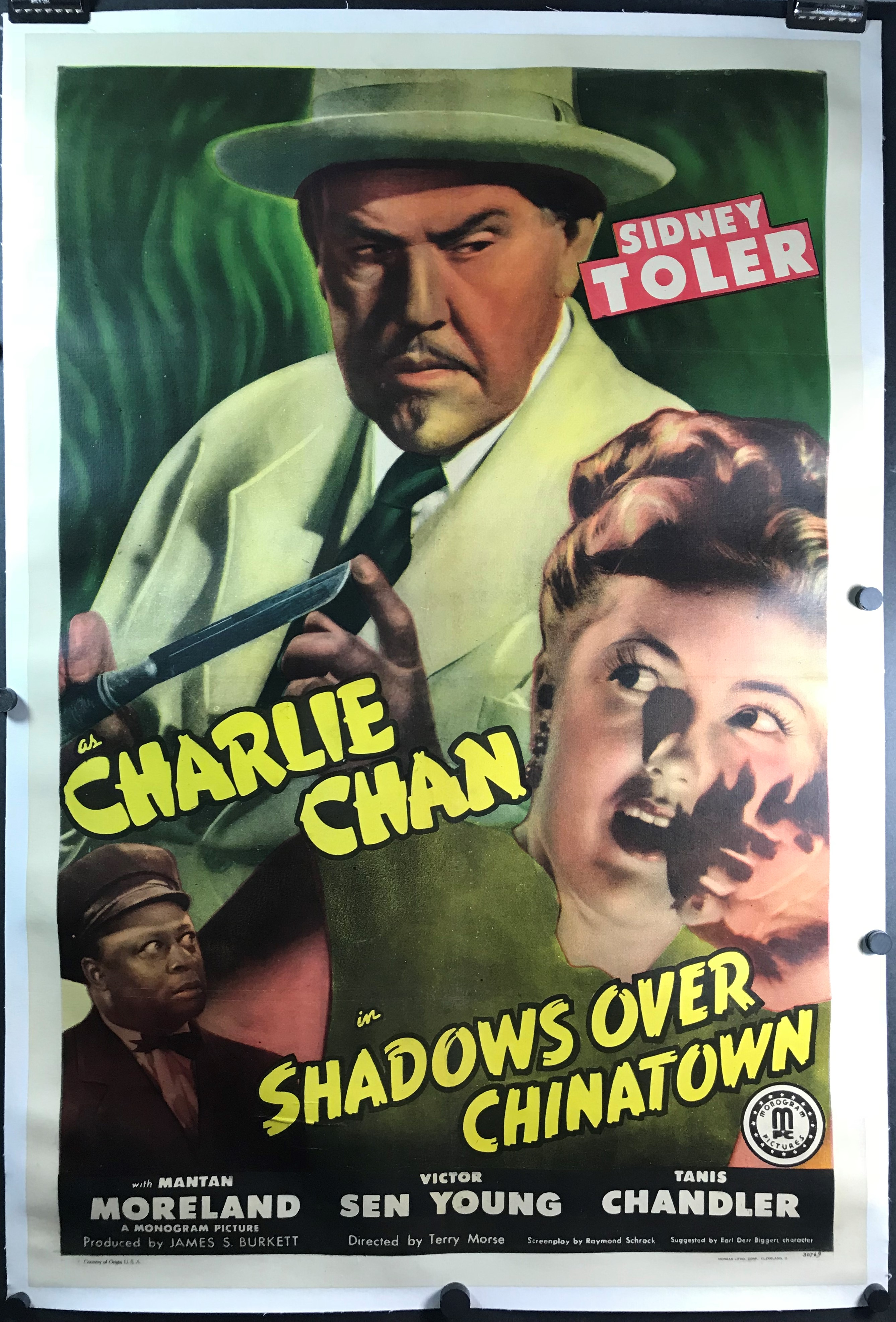 Shadows Over Chinatown Original Linen Backed Charlie Chan Movie Poster Original Vintage Movie Posters