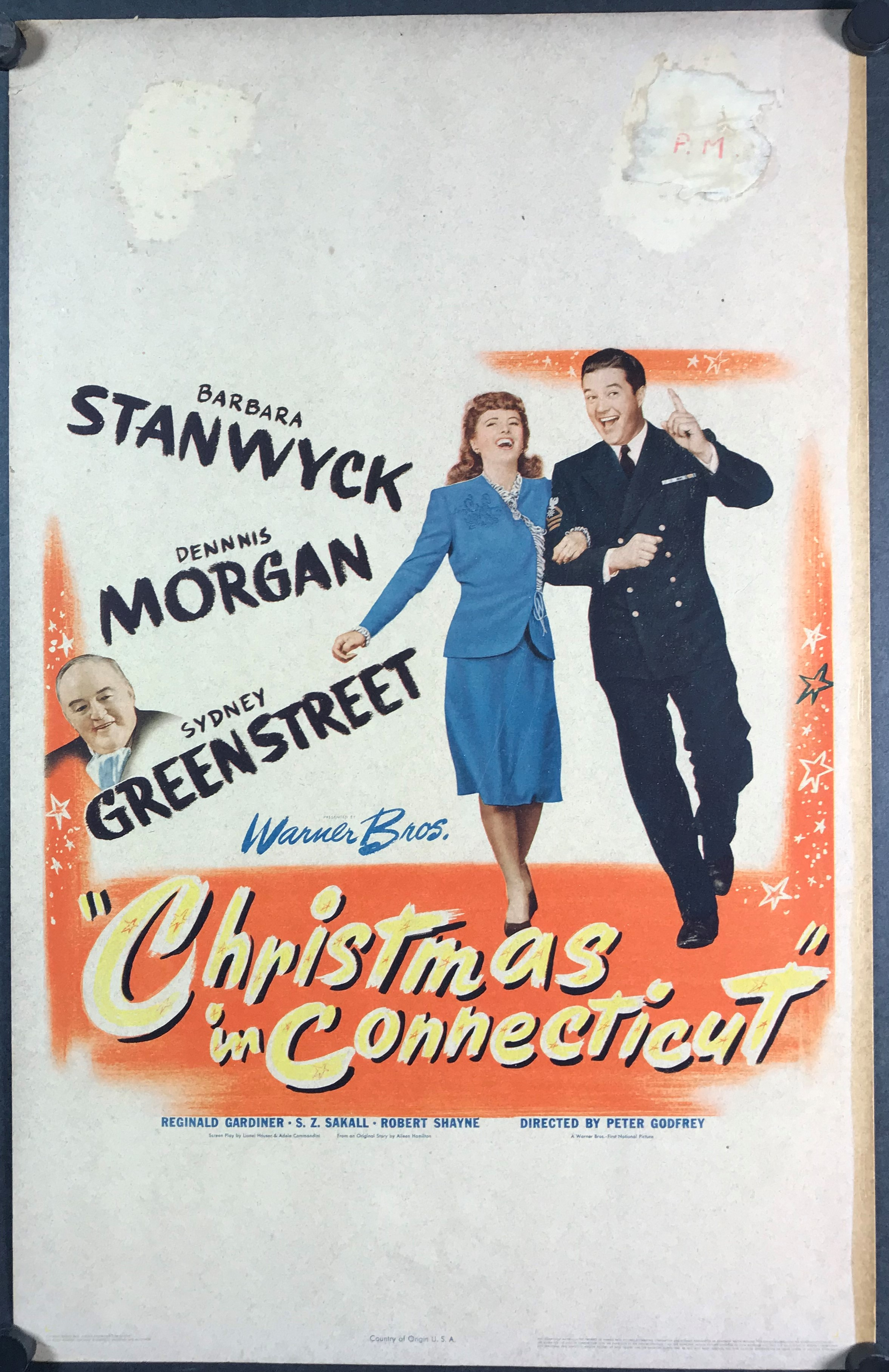 Christmas In Connecticut Movie.Christmas In Connecticut Original Vintage Christmas Movie