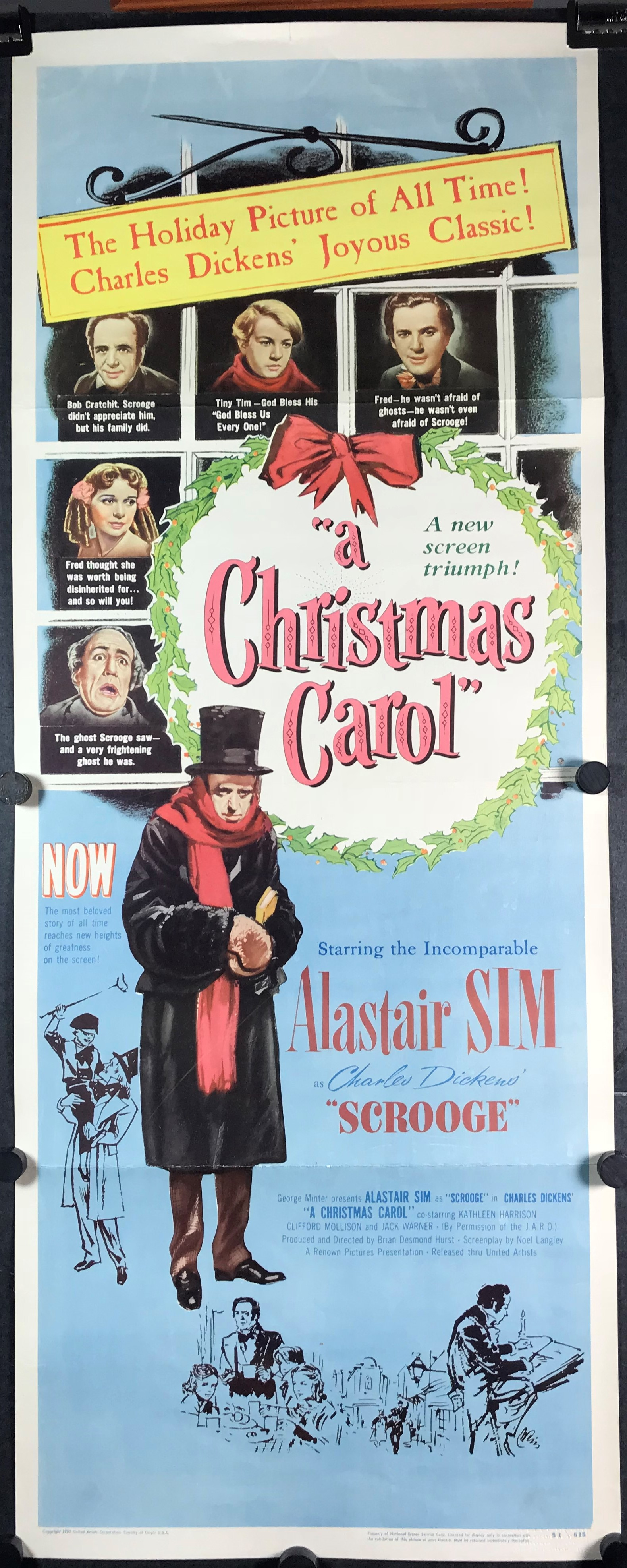 Original Christmas Carol Movie.A Christmas Carol Original Vintage Charles Dickens Insert