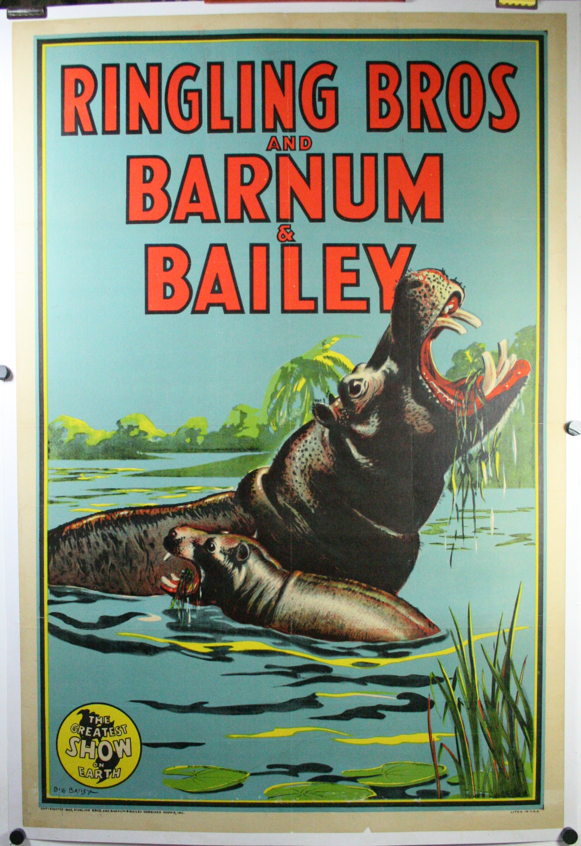 Vintage Barnum /& Bailey Circus Poster CIRCUS0016 Art Print A4 A3 A2 A1
