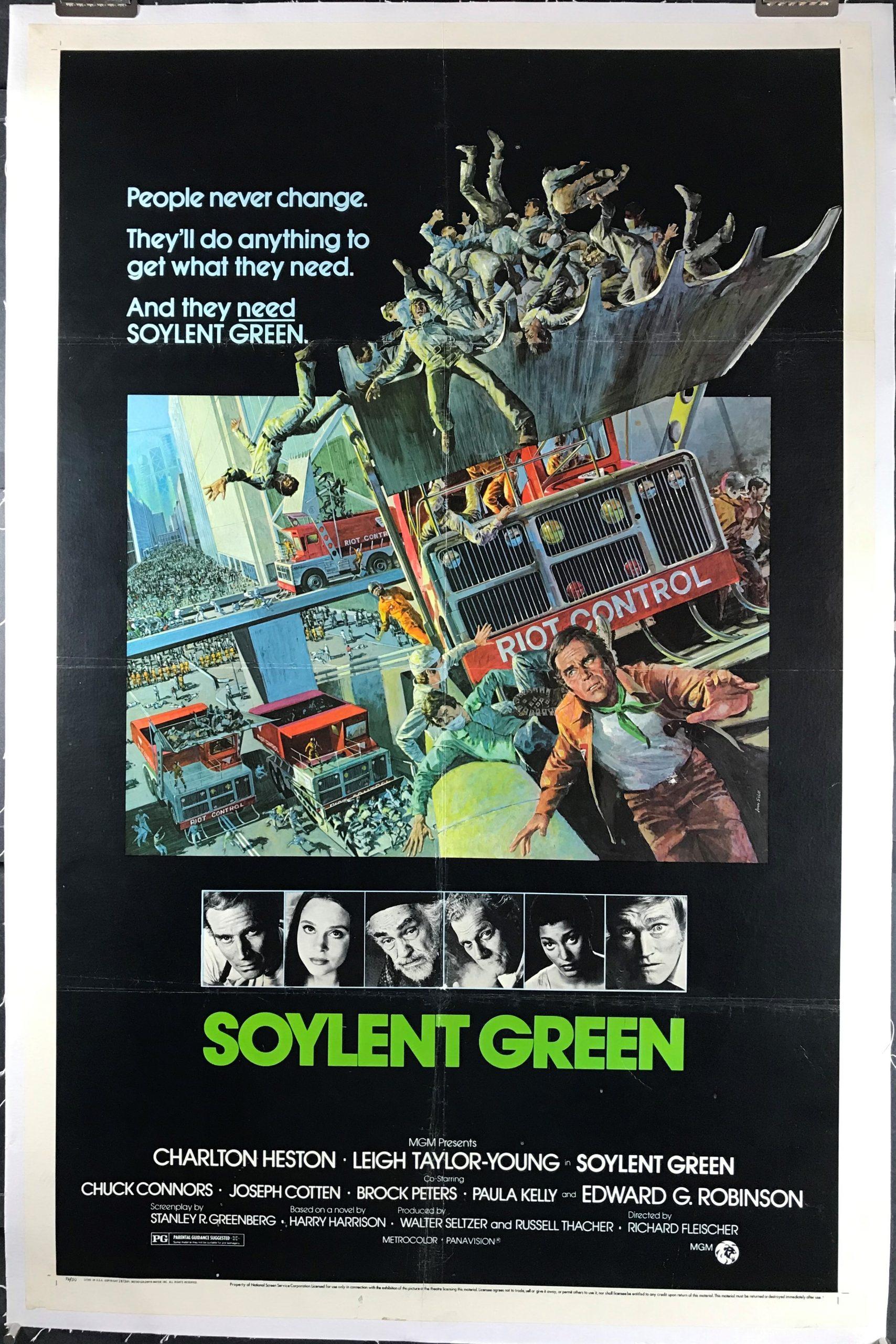 "Soylent Green Movie Poster 24/""X36/"""