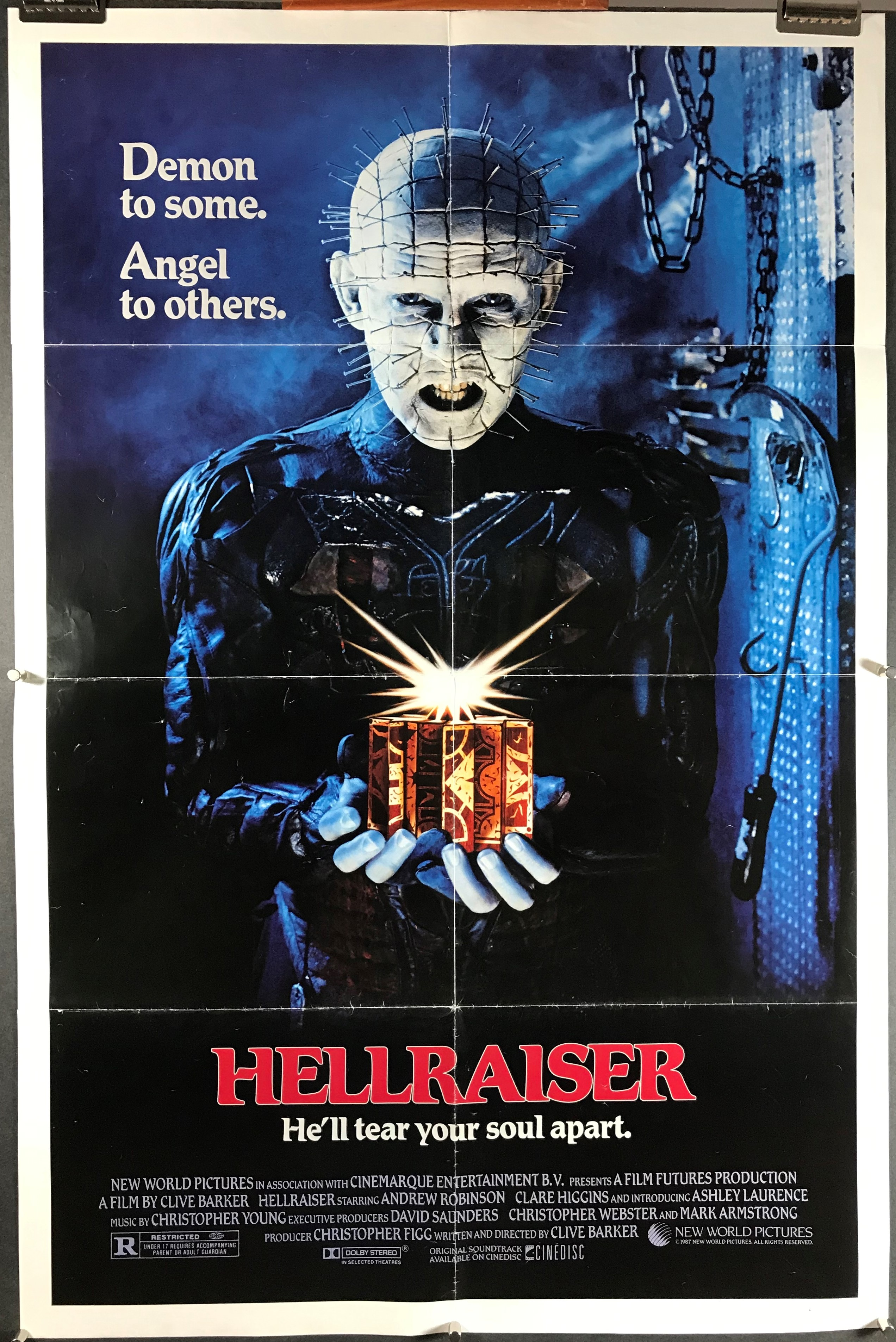 hellraiser movie poster horror posters higgins clare 1987 robinson andrew